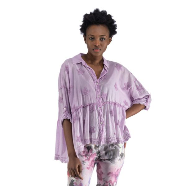 Star washed tiered shirt