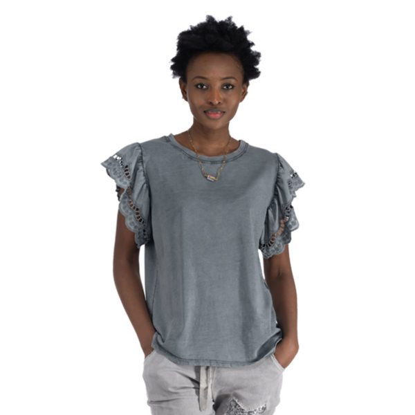 Basic cut-out sleeve top