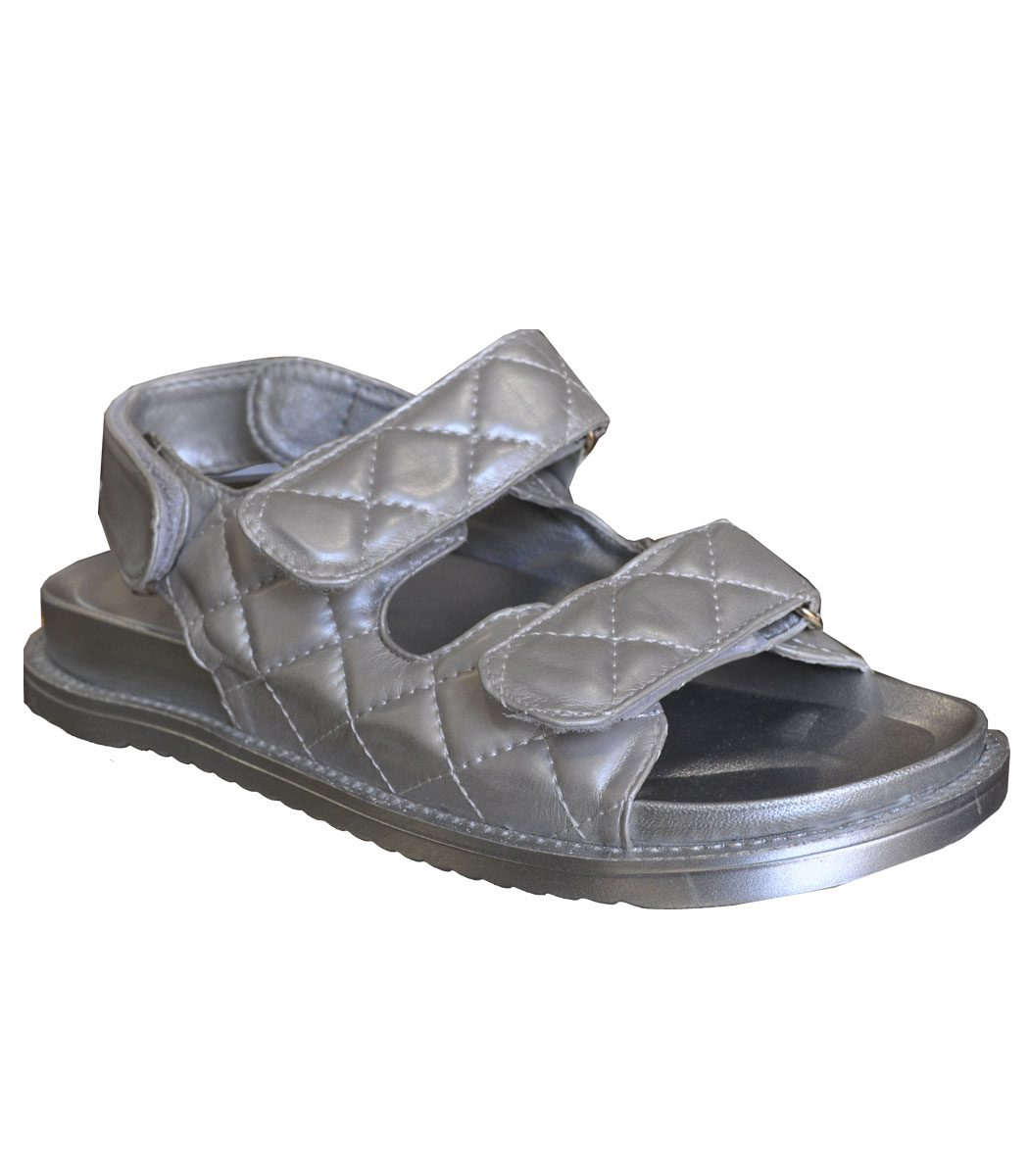 Quilted strap sandal