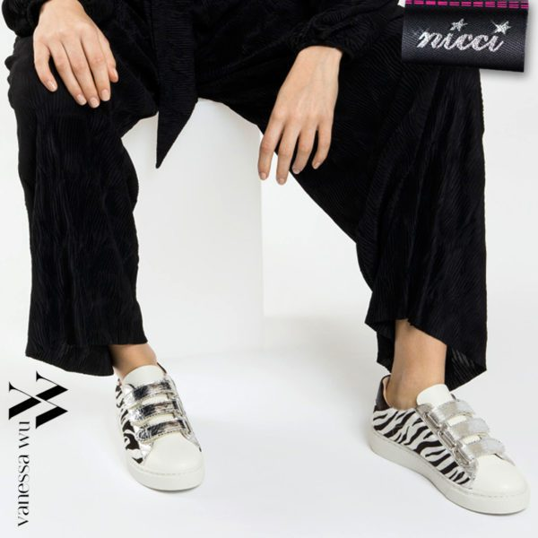 Vanessa Wu zebra print sneaker