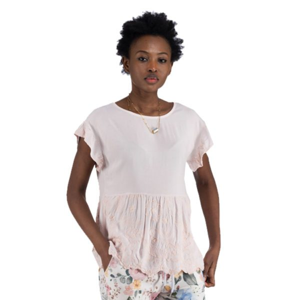 Tiered embossed top
